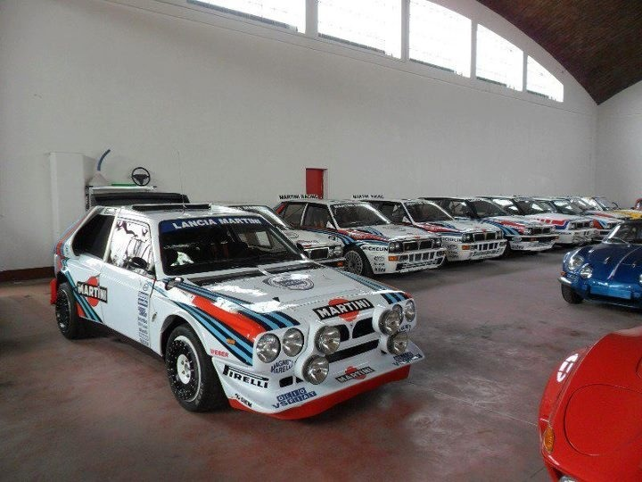 Lots of Martini Lancias. Culminating in the Delta S4.