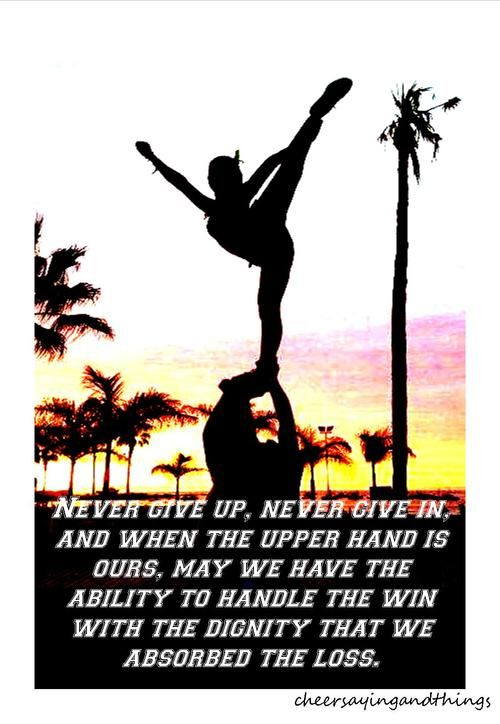 cheerleading quotes tumblr cheer sayings things