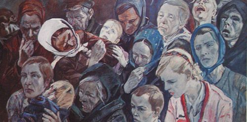 Alexander Deineka. Painting. In occupations. 1944