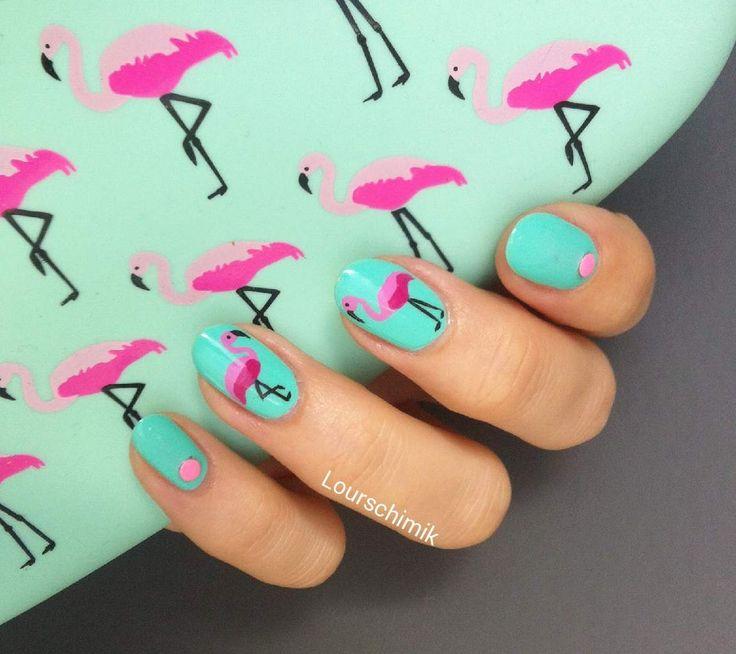 flamingo nails - des flamants roses qui sentent bon l'été