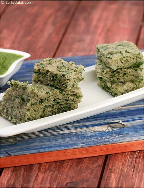 Methi Palak Dhoklas, these quick and easy to make dhoklas are best enjoyed as a breakfast dish or even a late afternoon snack.