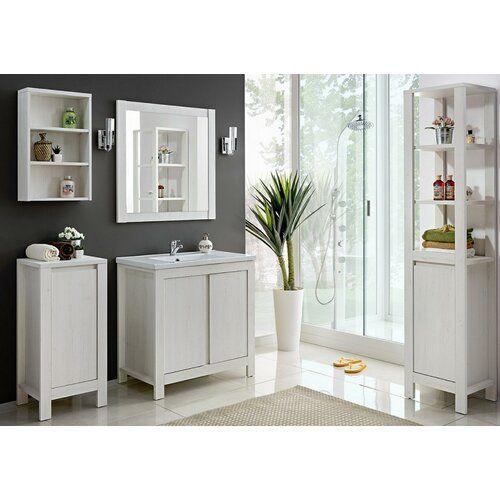 Doraville 6 Piece Bathroom Storage Furniture Set With Mirror Beachcrest Home Products In 2019 Bathroom Storage Furniture Sets Furniture
