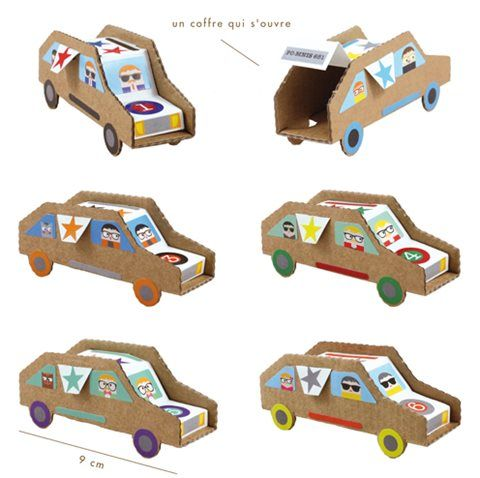les 25 meilleures id es de la cat gorie voiture en carton. Black Bedroom Furniture Sets. Home Design Ideas