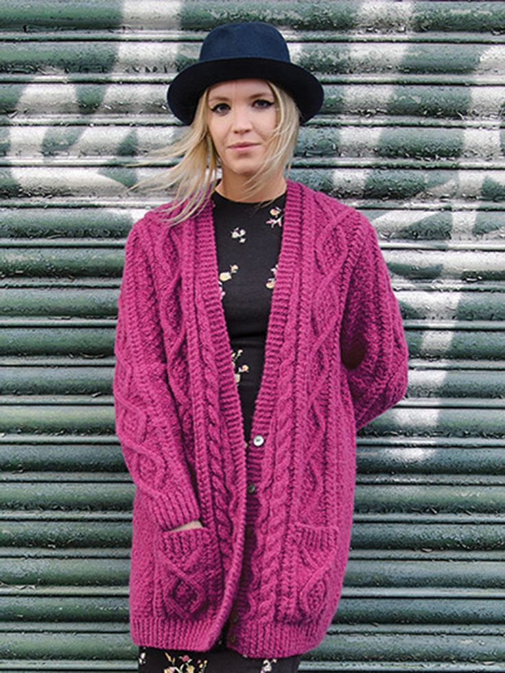Knitting Patterns For Aran Cardigan Ladies : 392 best images about knit on Pinterest Free pattern ...