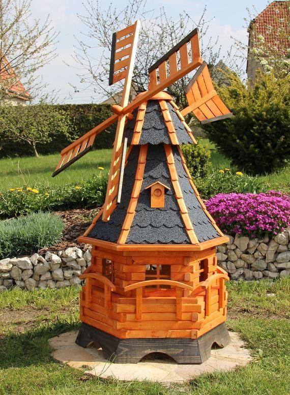 Large Windmill Windmills Wood Mill With Solar Lighting Type 12 1 Solar Lights Backyard Windmill Garden Windmill