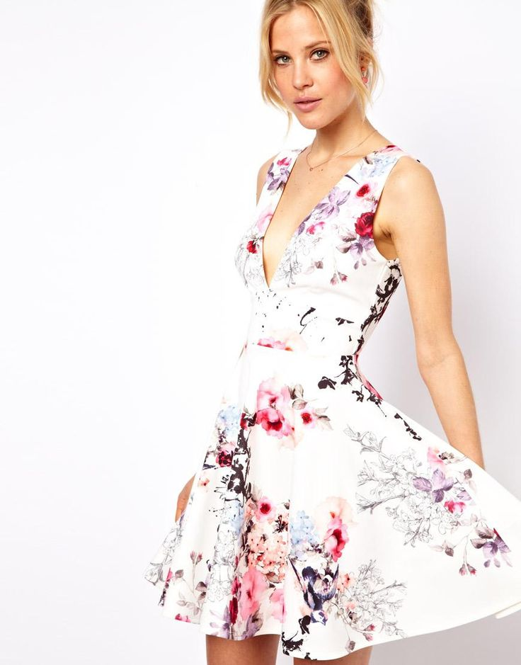 1b3f98d5d0178 Robe fleurie pour mariage robe bustier corail