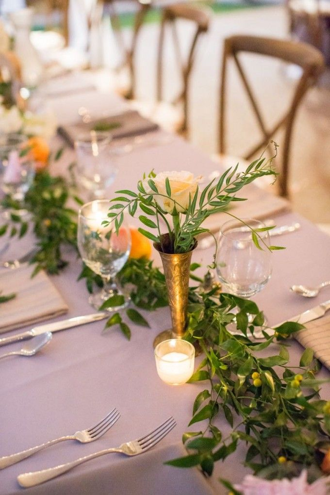 Marvelous Relaxed And Refined Classic Wedding :: Carey+Kyle. Find This Pin And More  On Fresh Flower Table Runners ...