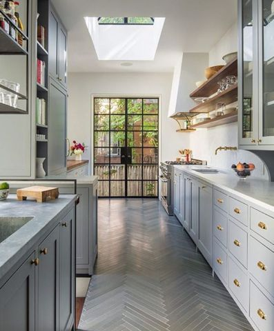 Omg - floor, shelving, cabinets, hardware, windows, skylight.  Love it all.