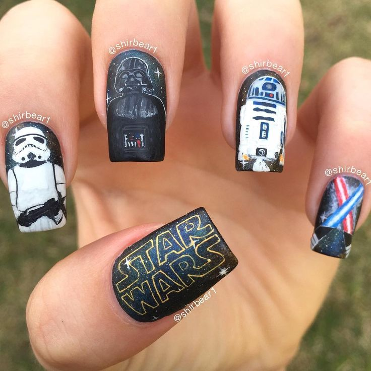 """Just Some Things I Like — Nail Arts And Tutorials on Instagram: """"Close up - Best 25+ Star Wars Nails Ideas Only On Pinterest Nail Art Diy"""