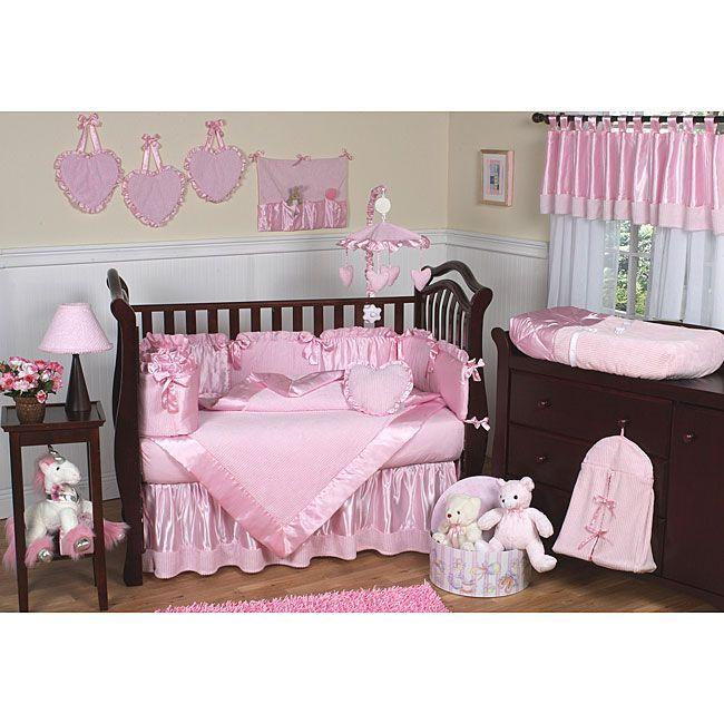 Sweet Jojo Designs Pink Chenille 9 Piece Crib Bedding Set Kinderzimmer Fur Madchen Babyzimmer Themen Rosa Bett
