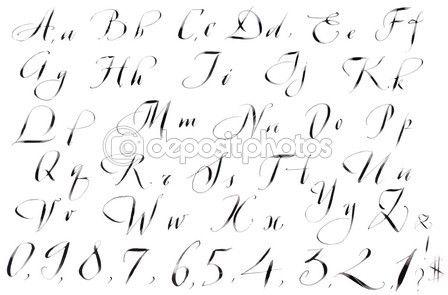 kaligrafie ručně psané písmo — Stock obrázek #9877660