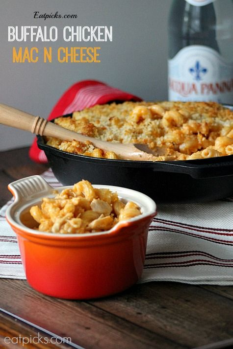 Buffalo Chicken MacNCheese recipe is perfect combo of favorite pub food! Wings and mac n cheese.