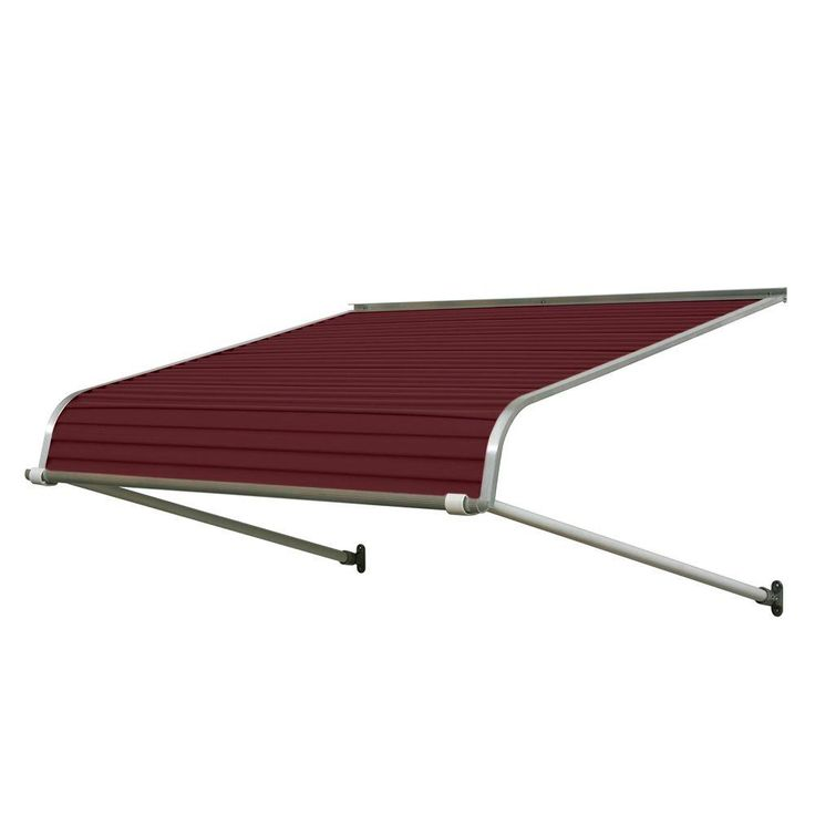 NuImage Awnings 4.5 ft. 1100 Series Door Canopy Aluminum Awning (15 in. H x 36 in. D) in Burgundy, Red