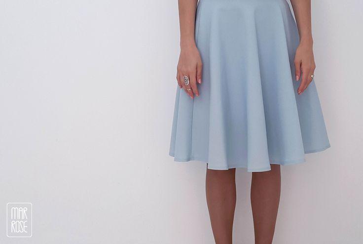 Circle skirt aquamarine #skirt #blue #aquamarine #circleskirt