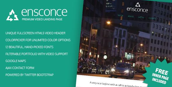 Ensconce - Premium Video Landing Page (Creative)