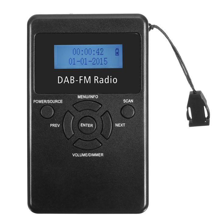 FM / DAB Radio Auriculares Recargables Receptor de Radiodifusión de Audio Portátil Digital