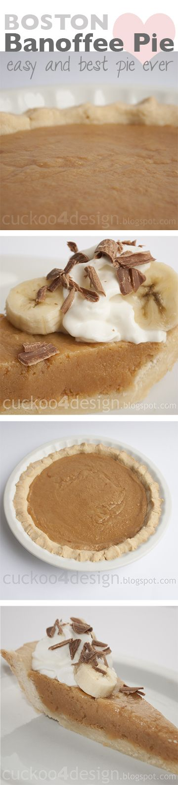 This pie tastes like gooey caramel, so good -  Boston Banoffee Pie - Cuckoo4Design