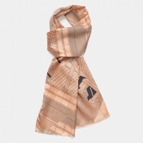 Ettore Sottsass, pink silk scarf. €147,52