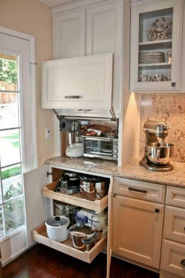 Superior Pinterest Kitchen Storage Ideas Part - 13: 42 Creative Appliances Storage Ideas For Small Kitchens - DigsDigs