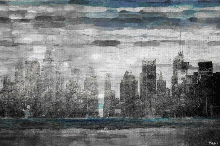 Parvez Taj Sunset in NYC Print on Canvas Parvez Taj - Sunset in NYC Print on Can