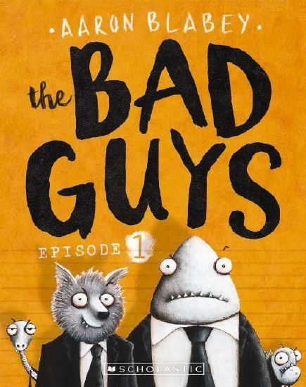(Own) The Bad Guys by Aaron Blabey Episode 1 and 2. Metafictive drawn chapter book. Episode 1 is written in the second person. Big bad wolf turns good and creates a team with shark, snake and piranah. They try and rescue a cat and release dogs from a pound. Episode 2 is 3rd person, alludes to Mission Impossible. Legs the spider joins the team.