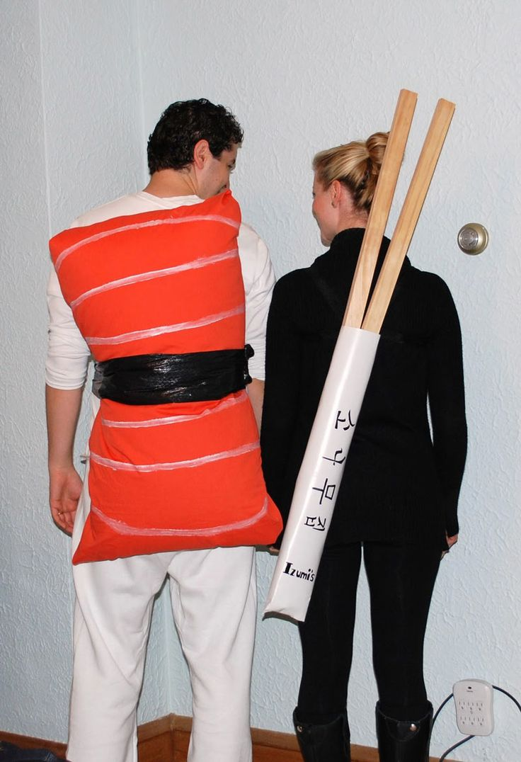DIY Nigiri Sushi Halloween Couple Costume Idea (Halloween Couples Fun)