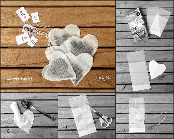 Srdiečkové čajové vrecúška - návod / Heart tea bags - free tutorial