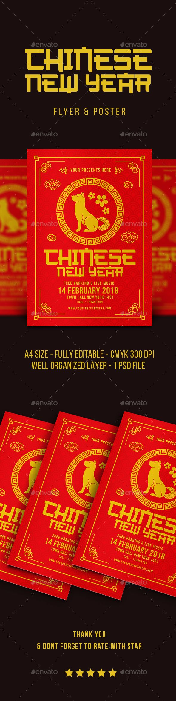 Chinese #New Year - #Events #Flyers