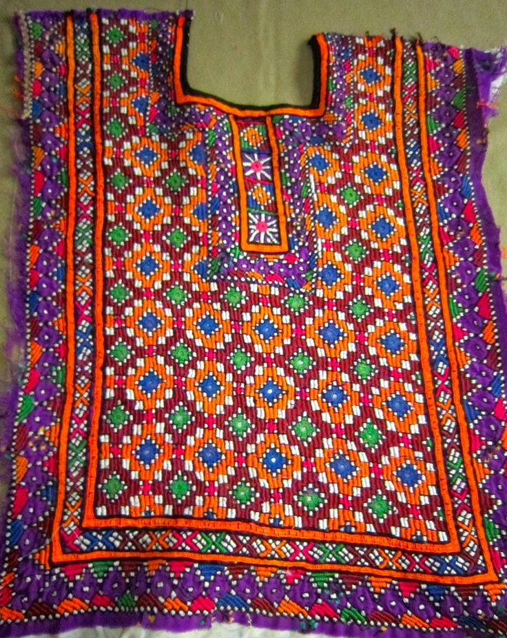 Banjara Indian embroidery patch, Gypsy embroidery from India