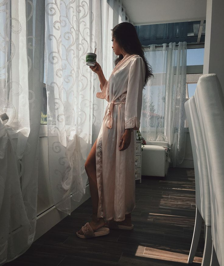 Girl. Luxury. Luxury life. White fornitures. White home. Coffee. Morning. Luxury girl. Luxury pink. Rose gold. Robe. Rose gold robe. Robe girl. Housecoat. Pink. Silk. Rose gold silk. Long robe. Fashion. Luxury house.