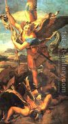 Saint Michael Trampling the Dragon 1518  by Raphael