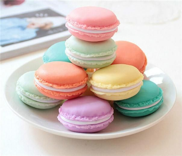 3PC Cute candy color Macaron storage box jewelry Packaging Display pill case organizer home decoration gift