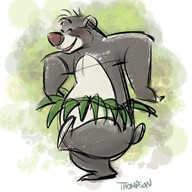 Forget about your worries and your strife. Quick sketch Baloo. - Steve Thompson