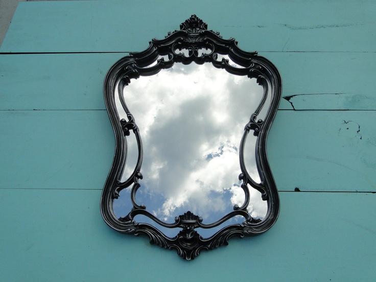 Large Ornate Vintage Mirror Wall Mirror Silver Ornate
