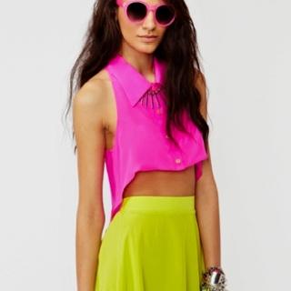 #pink #yellow neon