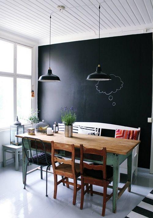 Меловая доска черная во всю стену #EasyNip