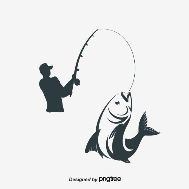 Vektor Rybak Rybolovstvo Ryba Udochka Png I Psd Fajl Png Dlya Besplatnoj Zagruzki Kids Silhouette Fish Clipart Fish Vector