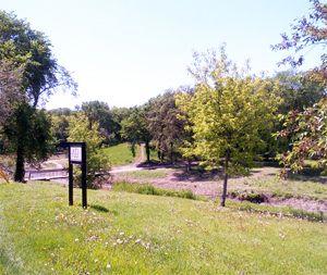 Omand's Creek Park - Wolseley neighbourhood, Winnipeg.