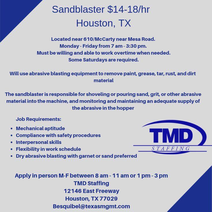 Sandblaster Staffing agency, Job, How to remove rust