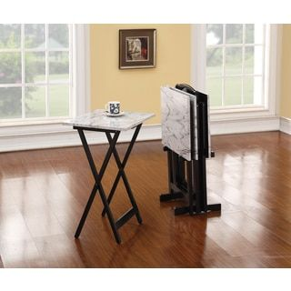 Shop for Linon Gina Tray Table Set - White. Get free shipping at Overstock.com - Your Online Furniture Outlet Store! Get 5% in rewards with Club O!