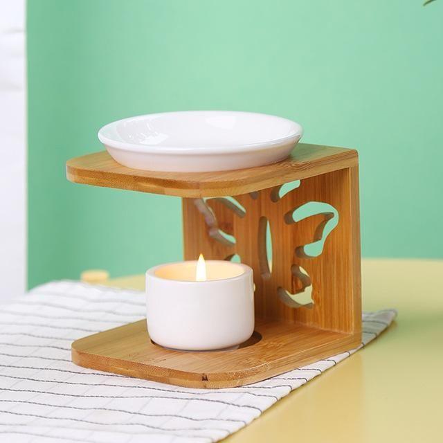 Ceramic Bamboo Essential Oil Burner Toshay Org Essential Oil Burner Diy Candles Easy Diy Candles