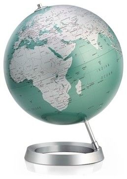 Full Circle Vision Globe (Amethyst) Design By Tecnodidattica, Mint - contemporary - World Globes - Greener Grass Design