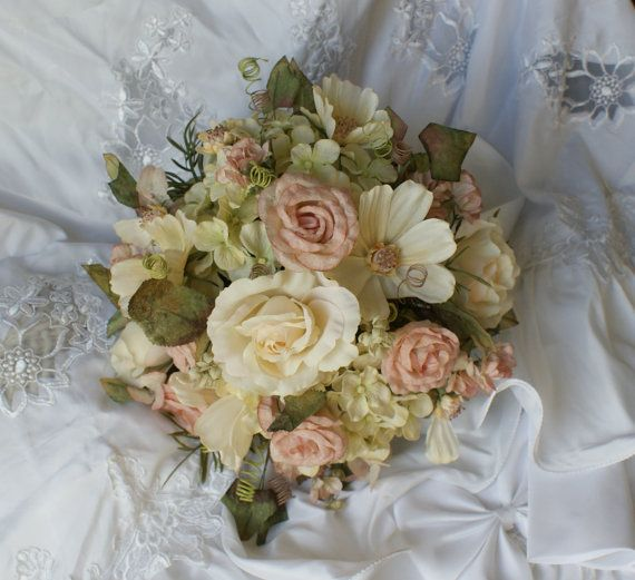 Cottage Style Silk Wedding Flower Package By TymburRidgeDesign 350