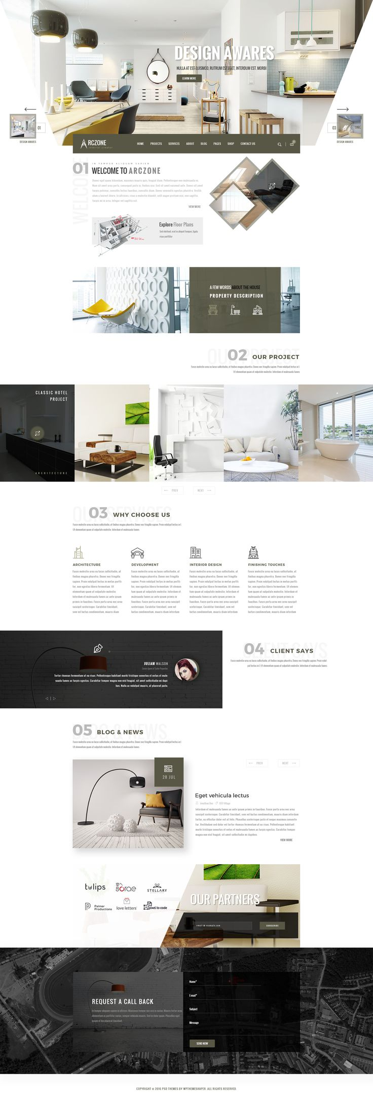 ARCZONE Interior Design Decor Architecture Business Template O Download