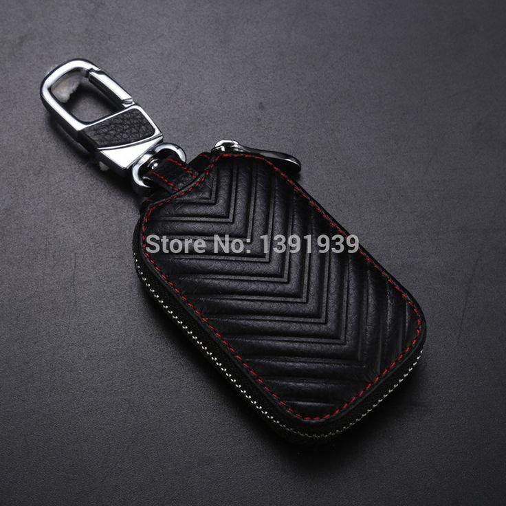 Car key wallet case Genuine Leather for Nissan Qashqai Titan Armada Sentra Maxima Leaf Versa Pulsar Murano Juke free shipping #Affiliate
