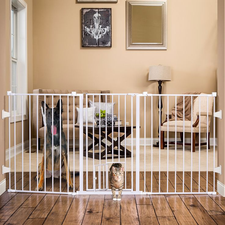 Carlson Extra Tall Flexi Pet Gate-Fits unusual openings