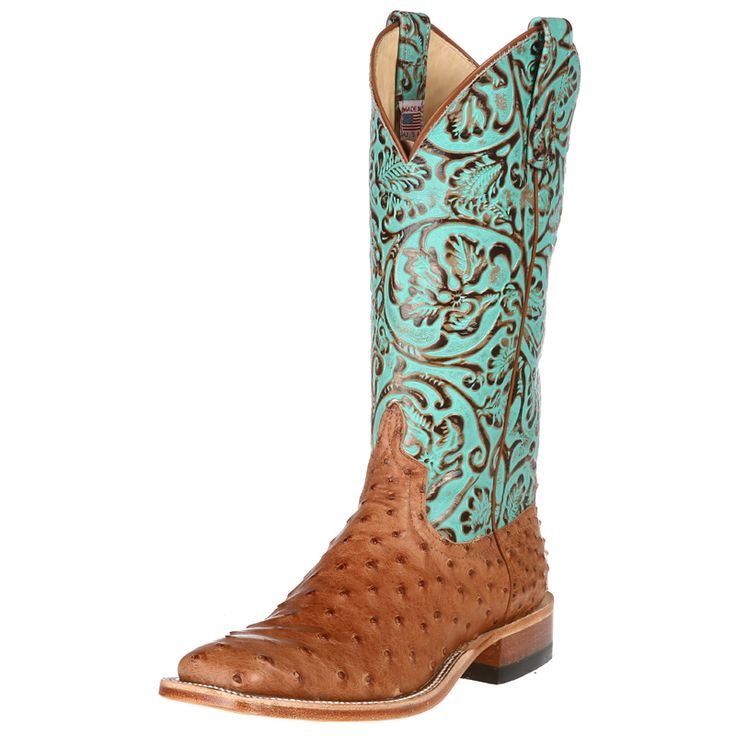 Women's Anderson Bean Cognac Full Quill Ostrich Cowgirl Boots