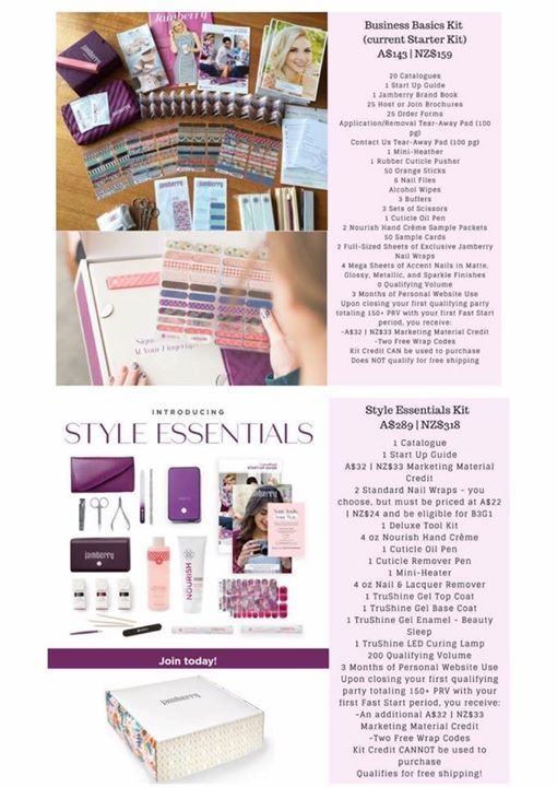 If you have ever thought about joining the Jamberry family, you may be interested to know we now have 2 sign up options. Both are amazing and include many goodies.. it's kind of insane! What below doesn't mention is the beautiful supportive company and team of women who are always available to be your cheerleaders and provide training. Details of each kit are below. If you have any questions about the kits or what's involved in becoming a consultant, you're welcome to comment or message me…