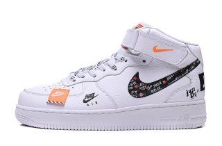 super popular 42730 bb134 Mens Womens Nike Air Force 1  07 LV8 JUST DO IT White   Black   Total Orange  AR7718 100 Running Shoes