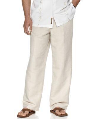 "Cubavera Big and Tall Drawstring Linen-Blend 32"" Length Pants | macys.com"